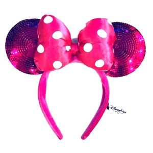 Official WDW Pink Sequin Minnie Ears